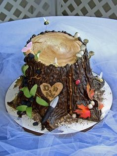 """Little bit too much """"extra"""" on this - but a good cake for camping themed party"""