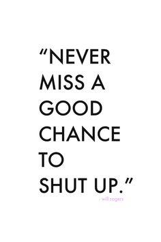 Never miss a good chance // shutterbean