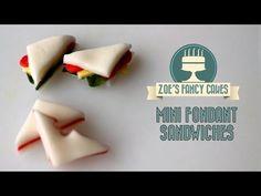 How to make mini fondant sandwiches How To Cake Tutorial - YouTube