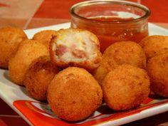 Cocina fácil: Bolitas de puré de patata con bacon y queso cheddar