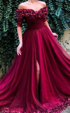 Burgundy Off the Shoulder Maroon Long Pom Dresses 2019 Dress 2019 Burgundy Dress Maroon Dress Fashion Dresses 2019 Prom Dresses With Pockets, Cheap Prom Dresses, Prom Party Dresses, Dresses Dresses, Prom Gowns, Bridesmaid Dresses, Wedding Dresses, Long Dresses, Formal Dresses With Sleeves