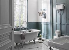 A beautiful example of a Burlington Bathroom Cosy Bathroom, Small Bathroom Interior, Small Bathroom Colors, Nautical Bathroom Decor, Big Bathrooms, Amazing Bathrooms, Downstairs Bathroom, Bathroom Bath, Bath Tub
