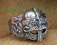 Vendel Helm Ring. Vendel Ära Helm. Vendel Helm Ring. Vendel Ring. Nordische Ring. Viking Ring. Helm des Terrors. Viking-Juwel. Wikinger Helm