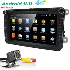 4G WIFI Android 6.0 car stereo radio for vw passat golf 5 Quad Core 8 inch 1024*600 car DVD GPS navigation OBD DVR canbus RDS #Affiliate