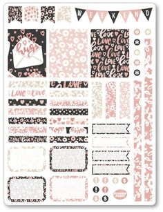 Items similar to XOXO Decorating Kit / Weekly Spread Planner Stickers for Erin Condren Planner, Filofax, Plum Paper on Etsy To Do Planner, Free Planner, Planner Pages, Happy Planner, Planner Ideas, Printable Planner Stickers, Journal Stickers, Bujo, Planner Stickers