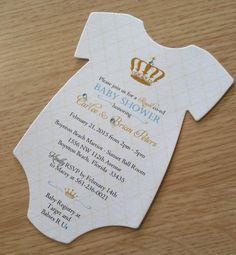 Royal Baby Shower Invitation by theinspirednote on Etsy