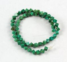 VIntage turquoise gemstone cube beads