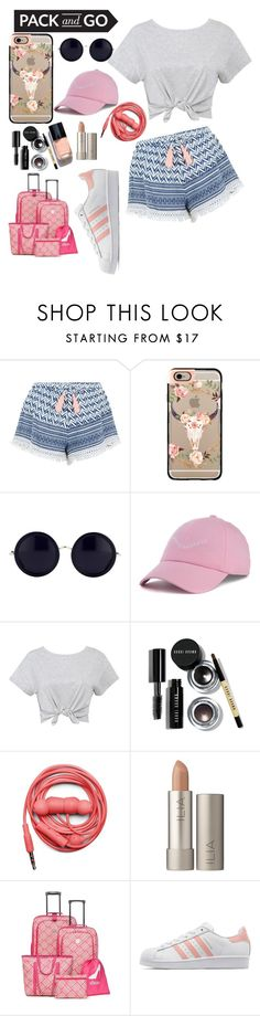 """rioooo brazil"" by beingmyselfaf ❤ liked on Polyvore featuring New Look, Casetify, The Row, Dimepiece, Bobbi Brown Cosmetics, Chanel, Urbanears, Ilia, New Directions and adidas Originals"