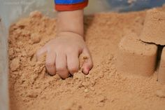 Homemade kinetic sand- don't waste your money on the store bought stuff when you…