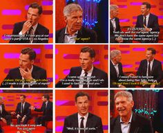 """Benedict on Graham Norton bringing up the """"I used to fantasize about you, I MEAN...."""" story... It happened it happened!"""