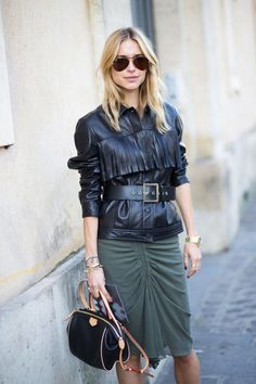 A leading trend on the Fall 2014 runways, boho-leaning showgoers embraced the look with fervor. Pictured: Pernille Teisbaek