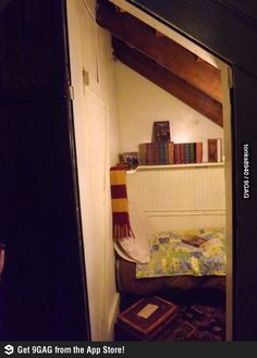 A bookstore has a tiny tribute room in the corner.  This is obviously the best bookstore there ever was.
