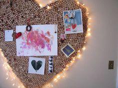 heart cork board… must try!