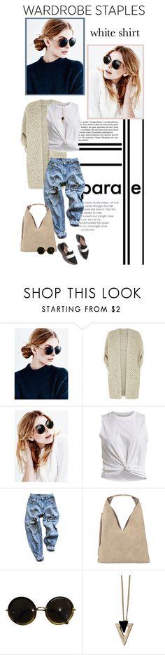 """Wardrobe Staples: The White Shirt"" by anitadz ❤ liked on Polyvore featuring Metropolis, The Row, Monsoon, VILA, Levi's, Matt Bernson, INZI, Chicnova Fashion, whiteshirt and polyvoreeditorial"