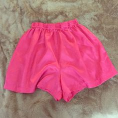 NEW! Satin Pink Shorts Never been worn, NWOT! Satin material lounge wear. Great to sleep in! Size Large. Elastic waste band. Etonne Intimates & Sleepwear
