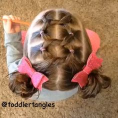 Knots into messy buns. Now if I could only get our NoMoNausea.com daddy to learn this. Lol!