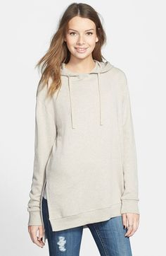 I just got this side slit sweatshirt tunic...and it looks great with both jeans and leggings!  I sized up so I can wear it with leggings!