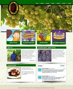 Website design for Farmers Fresh Fruit Company