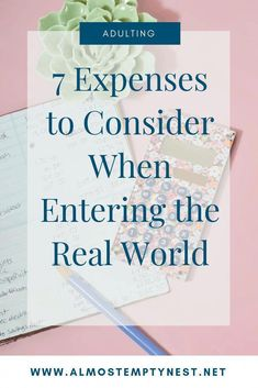 Adulting: 7 Expenses to Consider Before You Enter the Real World. Are you prepared financially to strike out on your own? Do you have a son or daughter getting their first apartment? Make sure you know these 7 expenses! Financial Tips, Financial Literacy, Wealth Management, Money Management, After College, College Life, Scholarships For College, College Students, Setting Up A Budget