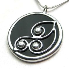 Spirals  round stained glass pendant 946 by LingGlass on Etsy, $25.00