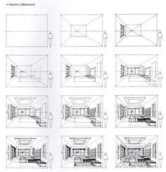 furniture Sketch Step By Step – How to Draw a Bedroom from the Book, Sketching Masterclass… – Furniture Decoration Croquis Architecture, Interior Architecture Drawing, Drawing Interior, Interior Design Sketches, Sketch Design, Design Design, Victorian Architecture, Classical Architecture, Design Concepts