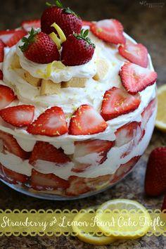 Easy to Make Strawberry & Lemon Pound Cake Trifle