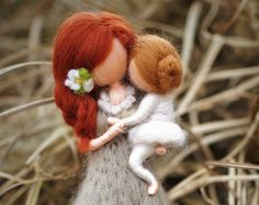 needle felted doll brooches waldorf inspired by PETRUSKAfairyworld