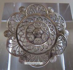 ‹ (•¿•) › 1920/30: A Vintage German Wmf Ikora Silver Brooch, Brooches/ Jewellery photo