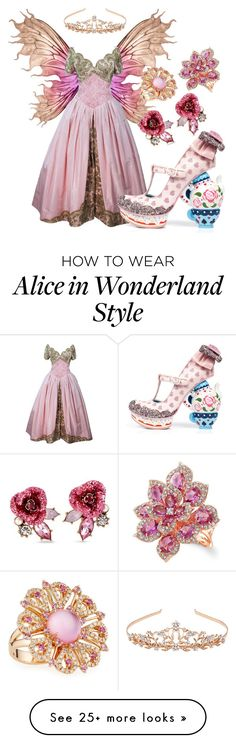 """Fairy Princess"" by takenuser on Polyvore featuring Vera Wang, Irregular Choice, Betsey Johnson, Roberto Coin, Anne Sisteron and Monsoon"