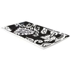 Damask Dinnerware Collection - Rectangle Tray - Black/White (Small) | Target