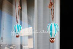 handmade necklace hot air balloon    http://sainsgioie.blogspot.it  http://www.facebook.com/GioieLillipuziane