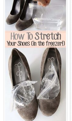 An easy trick to stretch out your shoes a bit (in the freezer!)