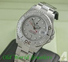 Rolex SS/PLAT MID SIZE YACHTMASTER
