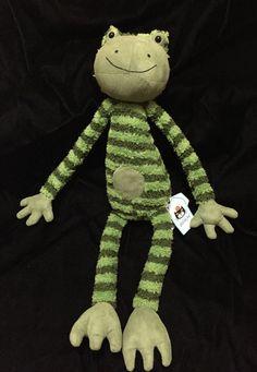 Jellycat Frederick Frog Plush Stuffed Animal Green Floppy Soft Toy Stripe New #jellycat
