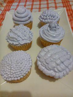 Diseños en cupcakes con suspiro