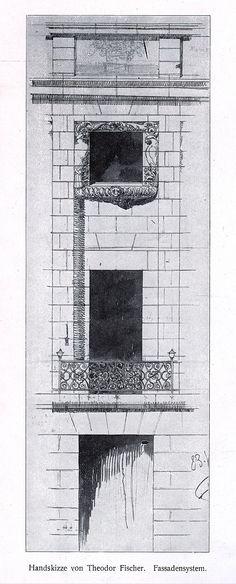 Theodor Fischer Heilbronn, Altes Theater, Fassadensystem