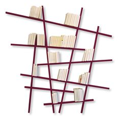 Order the fascinating Mikado shelving artwork made of oak or beech wood and designed by Jean-François Bellemère, available in our interior design shop. Vertical Bookshelf, Horizontal Bookcase, Large Bookshelves, Bookcases, Black Bookcase, Bibliotheque Design, Open Wall, Small Bars, Wooden Bar