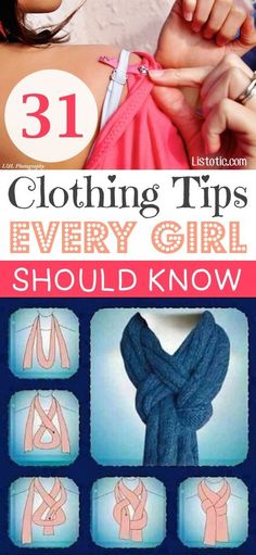 Great list of style and clothing hacks from Listotic!