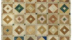 The American Museum in Britain, Quilts and Textiles exhibit, Square in a Square, Quaker quilt, 1835-1850.
