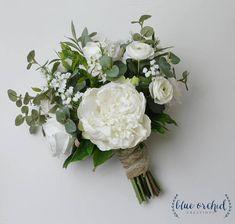 Silk Wedding Bouquet Boho Bouquet Bridal Bouquet Greenery