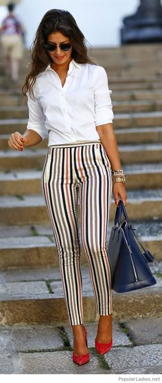 printed-pants-white-shirt-red-shoes-and-a-bag