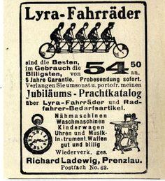 Richard-Ladewig-Prenzlau-LYRA-FAHRRADER-Historische-Reklame-von-1907