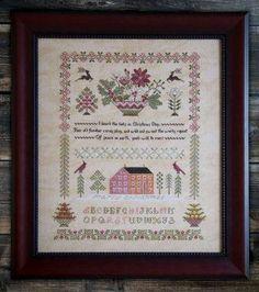 Cottage Garden Samplings - Peace on Earth Sampler