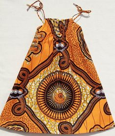 African Print girl's dress in a bright abstract pattern by oonaloo, $24.00