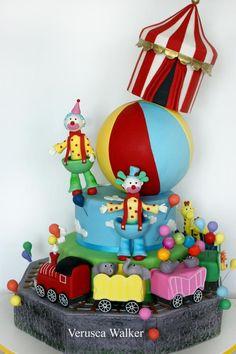 Circus cake! torta para una fiesta de circo