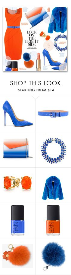 """""""2 Colors Too Fabulous"""" by jckallan ❤ liked on Polyvore featuring Jimmy Choo, Dsquared2, Bling Jewelry, Diane Von Furstenberg, NARS Cosmetics, MICHAEL Michael Kors, Overland Sheepskin Co. and contestentry"""