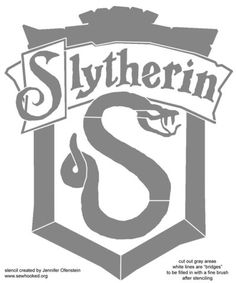 harry potter slytherin template- created by jennifer ofenstein sewhooked.org