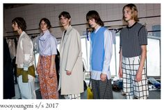 Madame Woo and her daughter Katie Chung were interested into showcasing a delicate, softer side of masculinity for the brand´s S/S 2016 . Daughter, Menswear, Coat, How To Wear, Jackets, Fashion, Down Jackets, Moda, Sewing Coat
