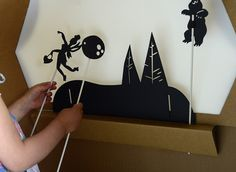 Tinyfolk Puppetbox - doubles as a traditional puppet theatre and shadow puppet theatre! Comes with a screen, light and shadow puppets. Shop at www.tinyfolk.com.au