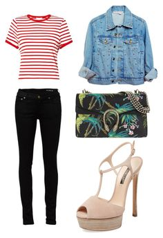 """wknd"" by muscateguim on Polyvore featuring moda, Casadei, Yves Saint Laurent, Miss Selfridge y Gucci"